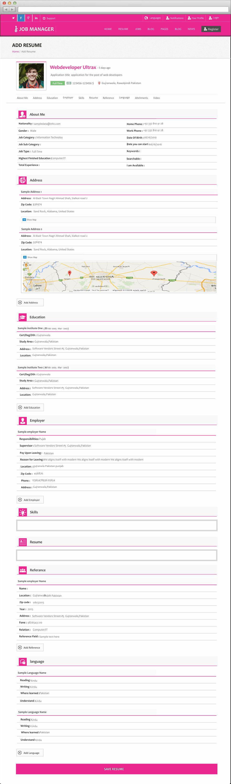 edit resume